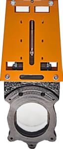 Unlined knife-gate valve